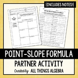 Point-Slope Formula Partner Activity