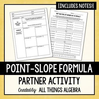 Point-Slope Formula Partner Activity
