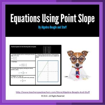 Point Slope Formula Scaffold Notes