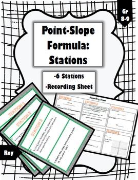 Point-Slope Formula Stations