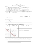 Point-Slope/Slope-Intercept quiz