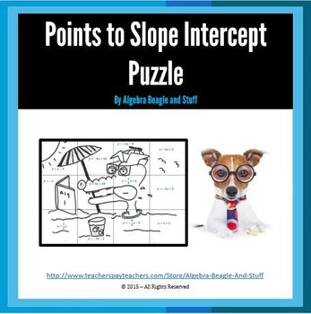 Points of a Line to Slope Intercept Puzzle Activity