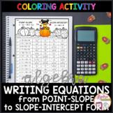 Halloween Algebra Writing Linear Equations (Point-Slope to Slope Intercept)