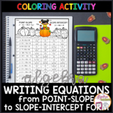 Thanksgiving Algebra Writing Linear Equations (Point-Slope to Slope Intercept)