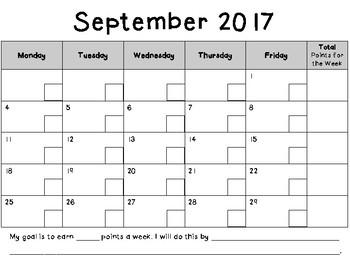 Point Tracking Calendar 17-18