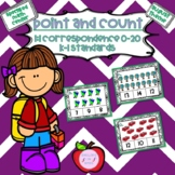 Distance Learning Point and Count Clip Cards (August Theme)