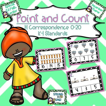 Point and Count (December Theme)- Math Center
