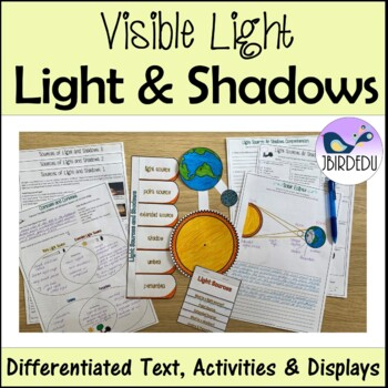 Point & Extended Sources of Light, & Shadows. Differentiated. PACKET