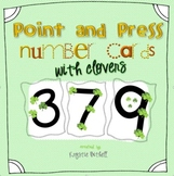 Number Cards with Clovers 1-9 with Point and Press