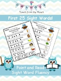 Point and Read Sight Word Fluency- First 25 Fry Words