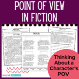 No Prep Point of View Activities in Fiction - Includes Reading Passages and More
