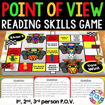 Point of View Activity: 1st, 2nd, and 3rd Person Point of View Task Cards Game
