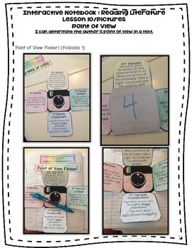 Point of View Foldables and Lesson for Interactive Notebooks