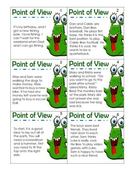 Point of View Game and Activity Bundle