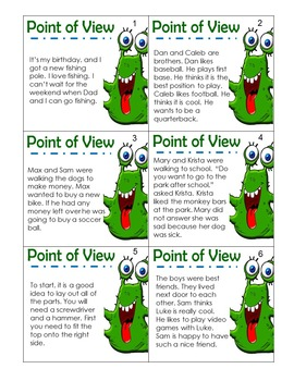 Point of View Game with Task Cards