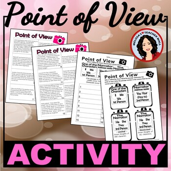 Point of View Activity, First, Second and Third Person