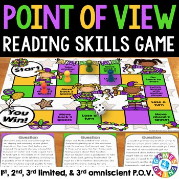 Point of View Activity: Point of View Game (Includes 3rd Limited & Omniscient)