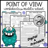 First, Second, & Third Person - Point of View Worksheets