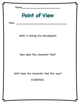 Point of View Activities and Printables