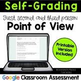 Self-Grading Point of View Quiz: Digital & Printable