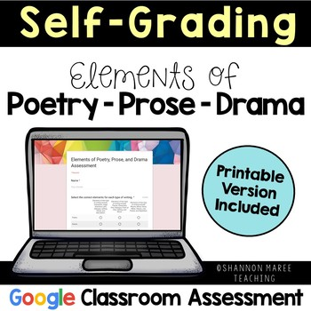 Poetry, Drama, Prose Assessment