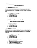 Point of View Assessment - Common Core Standard RL6