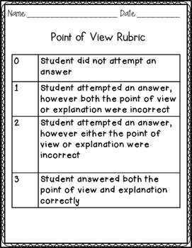 Point of View Assessment/Graphic Organizer