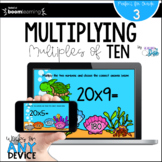 Multiplying Multiples of Ten BOOM Cards™ - Distance Learning
