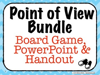 Teaching Point of View: Board Game & PowerPoint (Plus Free Bonus)