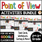 Point of View Activities: Task Cards, Sorting, and No Prep Printables