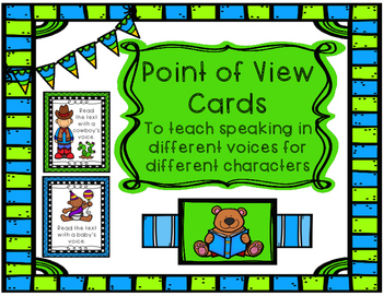 Point of View Cards - Character Voices