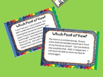 Point of View Cards for Practice, Literacy Centers, and More!