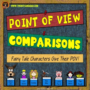 Point of View Comparisons Of Fairy Tale Characters PowerPoint