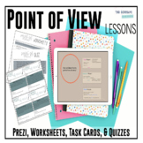 Point of View – Complete Unit with Prezi, Novel Passages Practice, & Quiz