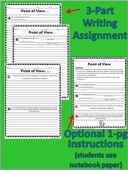 Point of View Creative Writing Activity: Versatile Cards, Poster & More