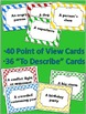 Point of View Creative Writing Activity: Versatile Cards,