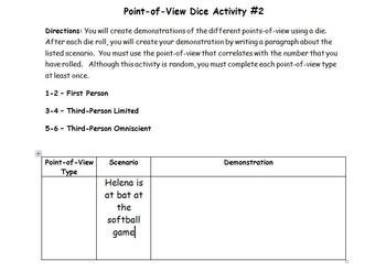 Point-of-View Dice Activity #2