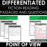 Point of View - Reading Comprehension Passages and Questions - Differentiated