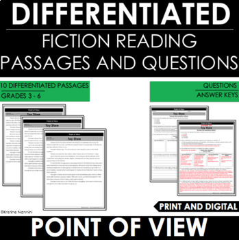 Point of View Reading Comprehension Passages Google Classroom Distance Learning