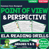 Point of View: ELA Reading Comprehension Worksheets | GRADE 4 & 5 ♥ FICTION