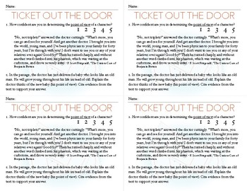 Point of View Exit Card *CCSS Aligned *RL.6.6