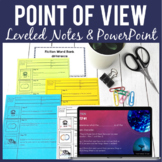 Point of View FICTION Guided Notes and PowerPoint