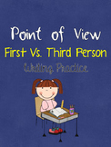 Point of View First Vs. Third Person Writing Practice