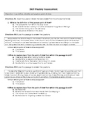 Point of View Formative Assessment