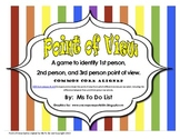 Point of View Game - 1st person, 2nd person, 3rd person