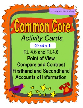 Point of View Grade 4 Common Core RL.4.6 and RI.4.6