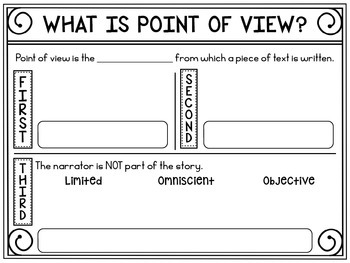 Point of View Guided Notes {Freebie}