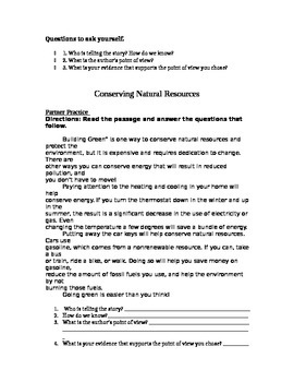 Point of View Guided Notes (nonfiction text)
