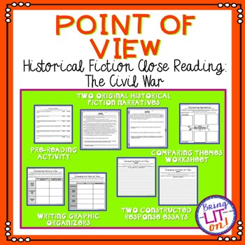 Historical Fiction Close Reading - Point of View and the Civil War