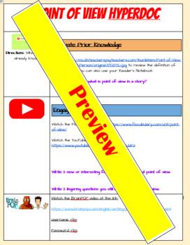 Point of View HyperDoc / WebQuest